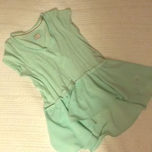 Teal light green short sleeve Anthropologie shirt.